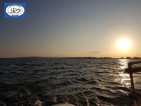 auf hoher See mit der Yacht